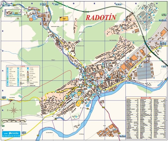 Map of Radotín